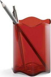 Durable Pojemnik na długopisy czerwono przeźroczysty Trend Durable