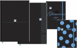 Interdruk Brulion A5/96K w kratkę BLACK&BLUE z gumką