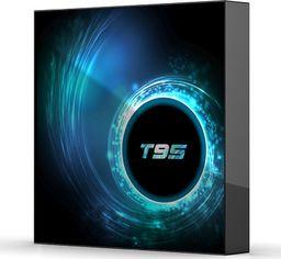 Aludra Zestaw smart tv box T95 4/32GB android 10 WiFi plus klawiatura bluetooth i8