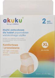 Majtki poporodowe Akuku Akuku Majtki siateczkowe dla kobiet poporodowe XL - 2 sztuki