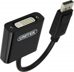 Adapter AV Unitek DisplayPort - DVI-I 0.2m czarny (Y-5118AA)