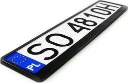 Ramka tablicy rejestracyjnej - czarna. uniwersalny