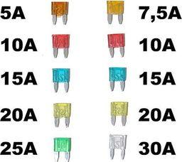 Automax Bezpieczniki mini - zestaw 10 szt. uniwersalny