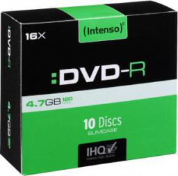 Intenso DVD-R, 4.7GB, X16, 10-PACK Slim (4101652)