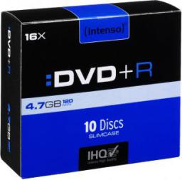 Intenso DVD+R, 4.7GB, X16, 10-PACK Slim (4111652)