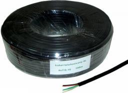 Kabel telefoniczny 4C Czarny 100m (KAB0503)