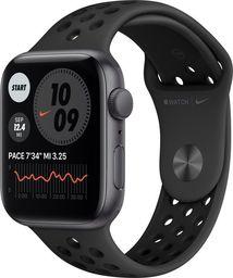 Smartwatch Apple Apple Watch Nike SE GPS 44mm aluminium, gwiezdna szarość | antracyt/czarny pasek sport