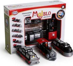 Malblo Magnetic Pociągi i lokomotywy 3+ Malblo