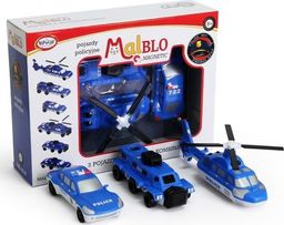 Malblo Magnetic Pojazdy policyjne 3+ Malblo