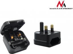 Maclean Adapter podróżny UK na gniazdo EU czarny (MCE71)