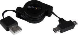 Adapter USB StarTech USB 2.0 Micro USB-Mini USB Czarny (USBRETAUBMB)