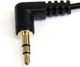 Kabel StarTech MiniJack 3.5 mm - MiniJack 3.5 mm, 0.3, Czarny (MU1MMS2RA)