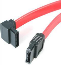 StarTech Kabel SATA, 0.3m, wtyczka kątowa, czerwony (SATA12LA1)