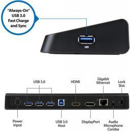 Stacja/replikator StarTech USB 3.0 Czarny (USB3DOCKHDPC)