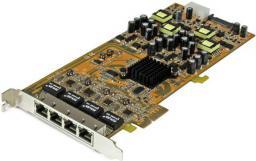 Karta sieciowa StarTech 4 porty Gigabit Ethernet (RJ45) (ST4000PEXPSE)