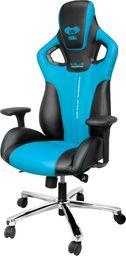 Fotel SELSEY E-Blue Cobra czarno-niebieski