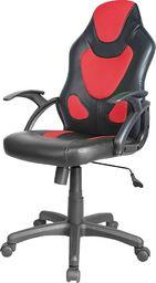 Fotel SELSEY Garner czerwono-czarny