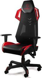 Fotel SELSEY Morvar V czarno-czerwony
