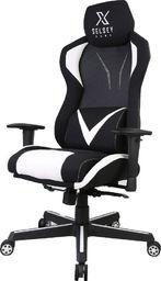 Fotel SELSEY Regeo czarno-biały