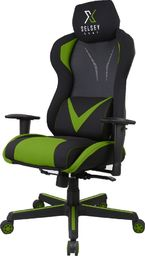 Fotel SELSEY Regeo czarno-zielony