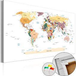 SELSEY Tablica korkowa Mapa świata