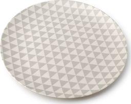 SELSEY Talerz Bambo geometryczny wzór o średnicy 25 cm