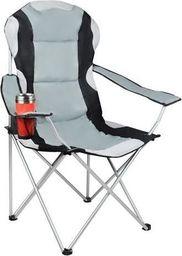 Malatec Krzesło wędkarskie czarno-szare uniwersalny