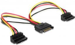 Delock Kabel SATA Zasilający SATA(M)->2x SATA(F),  15cm (60128)
