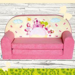 Galeriatrend Sofka Dziecięca Mini Kanapa Łóżko Różowy Zamek