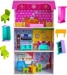VimToys Duży drewniany domek dla lalek Willa