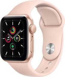 Smartwatch Apple Smartwatch Apple Watch SE GPS 40mm Aluminium złoty z piaskowym róż paskiem Sport