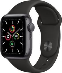 Smartwatch Apple Smartwatch Apple Watch SE GPS 44mm Aluminium szary z czarnym paskiem Sport