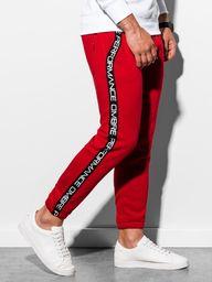 Ombre Spodnie męskie dresowe P899 - czerwone XL