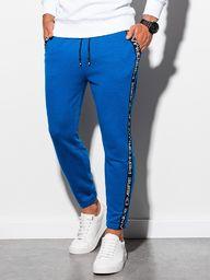 Ombre Spodnie męskie dresowe P899 - niebieskie XL