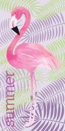 Carbotex Ręcznik 70x140 kąpielowy na basen Flaming Flamingi