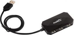 HUB USB Natec 4 Porty USB 2.0 czarny (NHU-0647)