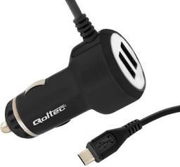 Ładowarka Qoltec 2x USB 4.1A + kabel MicroUSB (50028.20.5W)