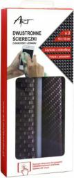 ART Dwustronne ściereczki z mikrofibry i jedwabiu, Dual Pack (CZART AS-18)