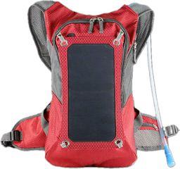 PowerNeed Plecak z ładowarką solarną 7W, czerwony (SBS11)