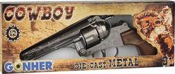 Pulio Metalowy Rewolwer kowbojski 12 naboi