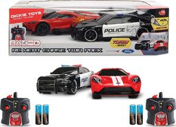 Dickie Auto na radio x2 Dodge Charger SRT Hellcat 2015 + Ford GT 2017 1:16 Dickie