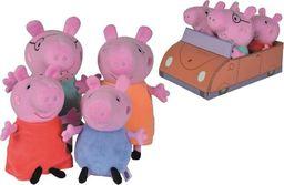 Simba Świnka Peppa zestaw maskotek. Rodzina świnki w aucie (1szt.=1op.) Simba