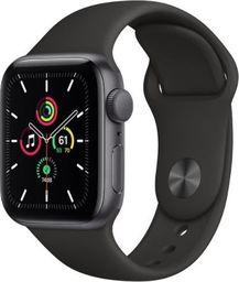 Smartwatch Apple Zegarek SE GPS, 40mm koperta z aluminium w kolorze gwiezdnej szarości z czarnym paskiem sportowym - Regular