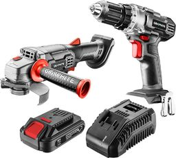 Graphite zestaw: wiertarko-wkrętarka akumulatorowa, szlifierka kątowa, akumulator Energy+ 4.0Ah, ładowarka (58G000-CS1)