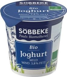 SOBBEKE JOGURT NATURALNY 3,8% BIO 150 g - SOBBEKE