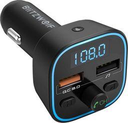 Transmiter FM BlitzWolf BlitzWolf BW-BC1 Transmiter Samochodowy QC3 USB SD