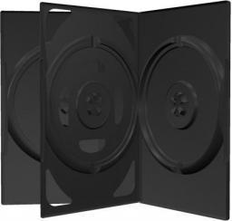 MediaRange Pudełko na trzy płyty, 50 sztuk, czarny (BOX15)