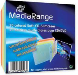 MediaRange Pudełka na płyty 5x4 kolory, 20 sztuk (BOX37)