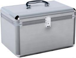 MediaRange Kufer na 200 płyt Srebrny (BOX75)