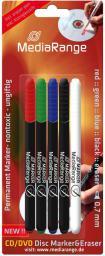 MediaRange Pisaki do płyt. 4 kolory + mazak (MR704)